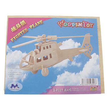 3D Yapbozlar Ahşap Yapbozlar Dövüşçü Helikopter Eğlence Tahta Klasik Hediye