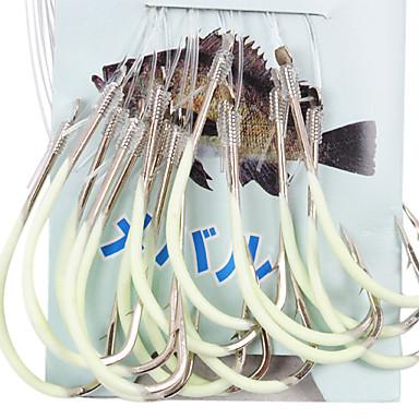 45cm-Line (30 Adet / Paket) 12 # -15 # HQ002 (Sarı) ile Deniz Balıkçılık için Noctilucent olta
