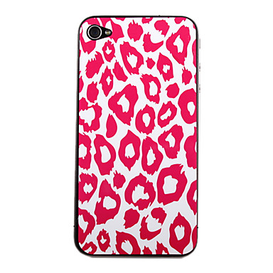 Sexy Rose Leopard Pattern Front and Back Protector Stickers for iPhone 4/4S