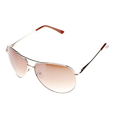 Unisex's Gradient Brown Lens Brown Frame Aviator Sunglasses