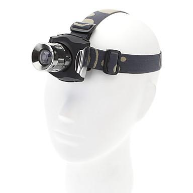 3-Mode Cree XR-E Q5 Zoom Lampe frontale à DEL avec chargeur (200LM, Noir)