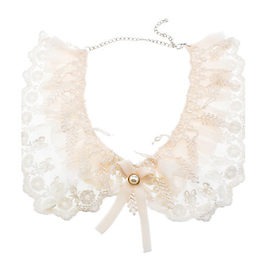 Multilayer Lace Bow Collar