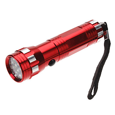 LED Flashlights / Handheld Flashlights LED 1 Mode 100 Lumens Tactical / Self-Defense AAA Everyday Use - Others , Red Aluminum alloy