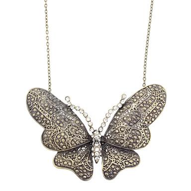 Diamond Butterfly Retro Necklace