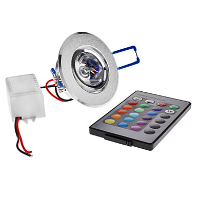 cheap Indoor Lights-180lm LED Ceiling Lights Recessed Retrofit 1 LED Beads High Power LED Remote-Controlled RGB 85-265V