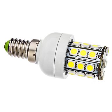 E14 Bombillas LED de Mazorca T 30 leds SMD 5050 Blanco Natural 6000lm 6000KK AC 110-130 AC 100-240V