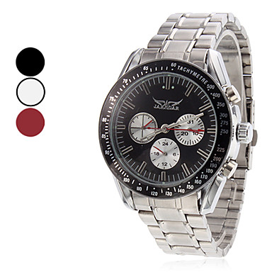 Men's Water Resistant Style Steel Analog Mechanical Wrist Watch (Assorted Colors)