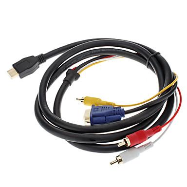 V1.3 HDMI - VGA AV-kaapeli 1.5M (1m)