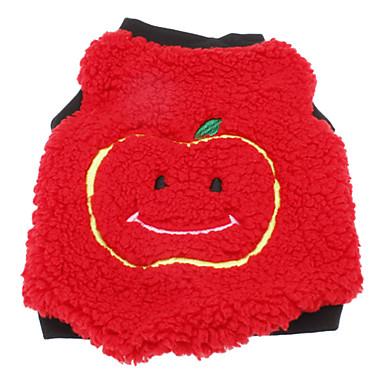 Chien Sweatshirt Vêtements pour Chien Respirable Décontracté / Quotidien Garder au chaud Fruit Rouge Costume Pour les animaux domestiques