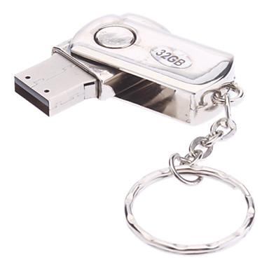 32gb metal malzeme, mini USB flash kalem sürücü döndürmek