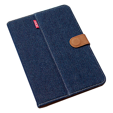 ultratunna kungsblå ren bomull denim w / stativ för iPad mini 3, iPad Mini 2, iPad Mini