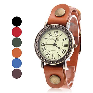 Mulheres Relógio Casual Quartzo Venda imperdível Banda Amuleto Preta Azul Vermelho Marrom Verde Cáqui