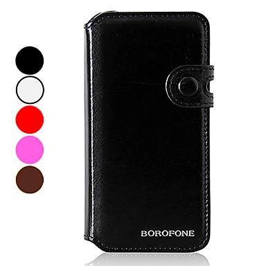 couleur dossier solide portefeuille de conception PU cuir complet du corps pour l'iphone 5/5s (couleurs assorties)
