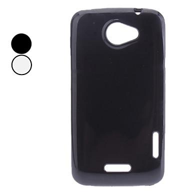 Solido Colore caso molle di TPU per HTC uno X (colori assortiti)