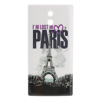 Paris Eiffel Tower Pattern Hard Case for Sony Xperia P LT22i