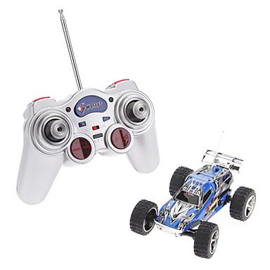 Wltoys 01:32 High Speed Remote Control Car Racing com LED (vermelho, prata, azul) piscando