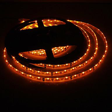 Waterdichte 5M 20W 300x335SMD Yellow Light LED Strip lamp (DC 12V)