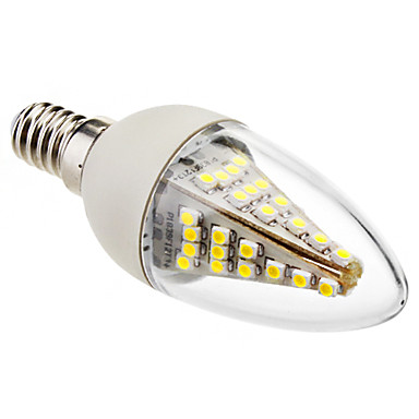 e14 levou luzes de vela c35 48 smd 5050 230lm frio branco 6000k decorativo ac 220-240v