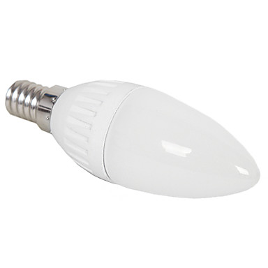 Decorative Candle Bulbs , E26/E27 3 W 3 High Power LED 240 LM Natural White C AC 220-240 V