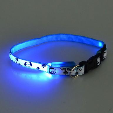 개를위한 조정 가능한 사랑스러운 개 패턴 야간 안전 LED 플래시 칼라 (분류 된 색깔, 목 : 22-30cm / 8.6-11.8inch)