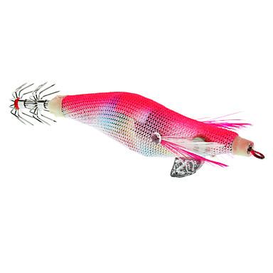 Praticabilité crevettes en forme appâts de pêche avec des crochets (couleurs assorties)
