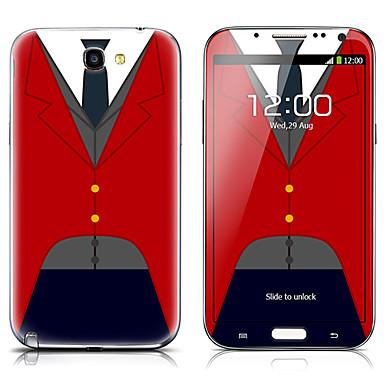 Samsung Not 2 N7100 için SX-059 Gömlek Desen Ön ve Arka Koruyucu Etiketler
