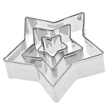 cinci stele stele formă oțel inoxidabil cookie set de tăiere 3pcs