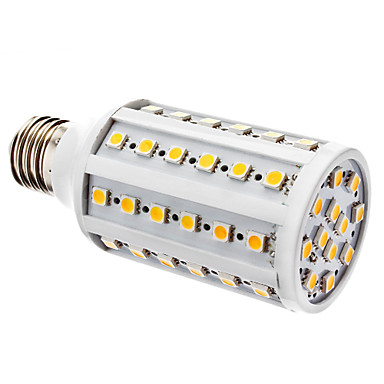 E26/E27 LED Corn Lights T 60 SMD 5050 800 lm Warm White Dimmable AC 220-240 V