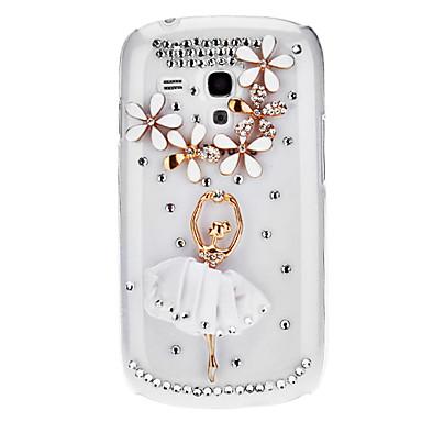 Bling Bling Dancer projeto Hard Case com strass para Samsung Galaxy S3 Mini I8190
