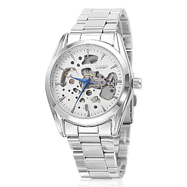 Unisex  Semi-Mechanical Steel Analog Mechanical Wrist Watch (Assorted Colors)