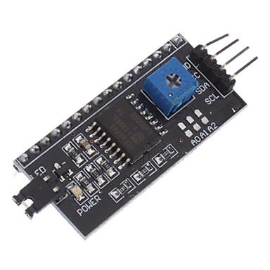 lcd1602 adaptörü kurulu IIC / i2c arayüzü w / - siyah (resmi (arduino için) panoları ile çalışır