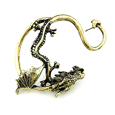 Men's Ear Cuff - Dragon Personalized, European, Fashion Silver / Golden For Christmas Gifts Halloween Daily
