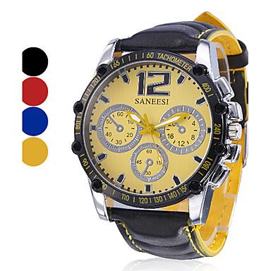 Men's Watch Sports Big Dial Analog PU Band Cool Watch Unique Watch Fashion Watch