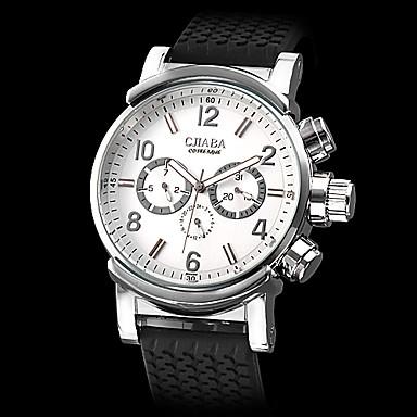 Style du calendrier de silicone analogique montre-bracelet automatique mécanique hommes (couleurs assorties)