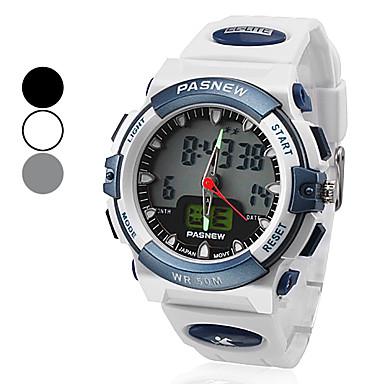 unisexe bande de montre multifonctionnelle numérique-analogique caoutchouc poignet sportif (couleurs assorties)