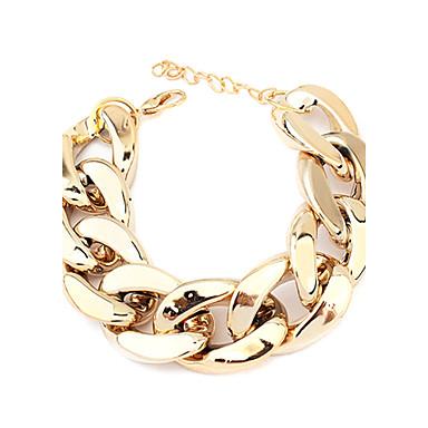 Kadın's Zincir & Halka Bileklikler - Klasik Temel Mücevher Siyah Gümüş Altın Bilezikler Uyumluluk Yılbaşı Hediyeleri Parti Günlük