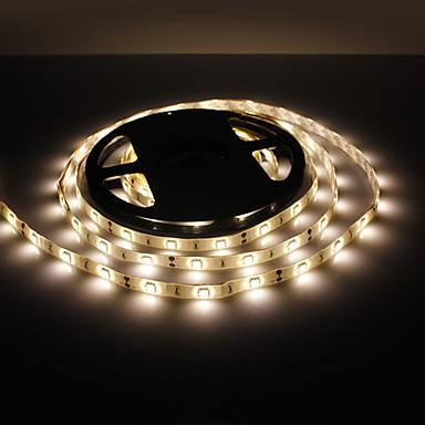 5m Esnek LED Şerit Işıklar 150 LED'ler 5050 SMD Sıcak Beyaz Su Geçirmez 12 V