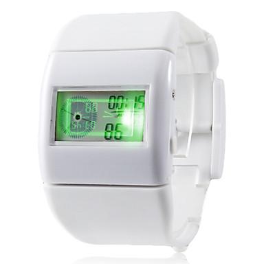 unisex digitalen multifunktionalen Gummiband-Armbanduhr (weiß)