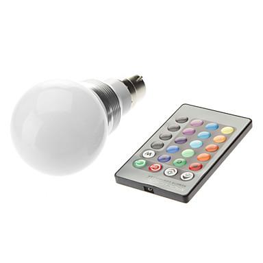 3W 1600-1700 lm B22 LED Küre Ampuller led Yüksek Güçlü LED Uzaktan Kumandalı AC 85-265V AC 220-240V