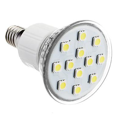 E14 2W 12x5050SMD 90-100LM 6000-7000K Natural White Light LED Spot Bulb (230V)