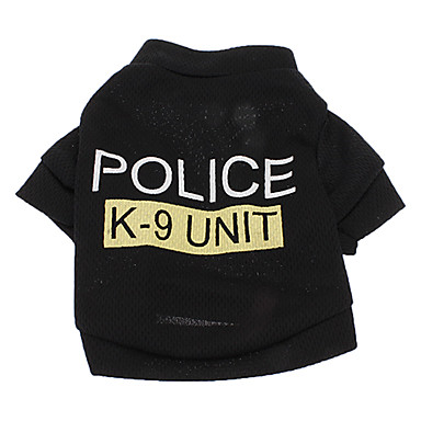 Köpek Tişört Köpek Giyimi Polis/Ordu Harf & Sayı Kostüm Evcil hayvanlar için