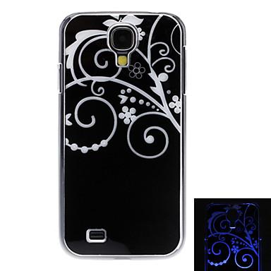 Flores Padrão Hard Case com flashes de luz LED para Samsung i9500 Galaxy S4