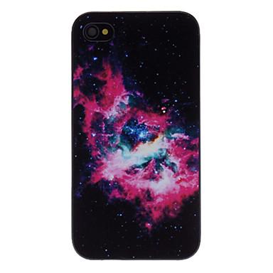 iPhone 4/4S için Muhteşem Nebula Decaled PC Sert Kılıf