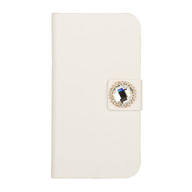cristal en cuir bouton cas de tout le corps rond pour iphone 5/5s