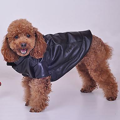 PU cuero puro Coat para perros de color (colores surtidos, S-XXL)