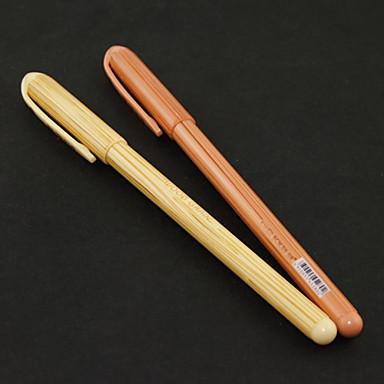 Wood Grain Black Ink Gel Pen(Random Color)