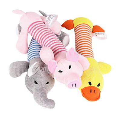 preiswerte Hundespielsachen-Plüsch-Spielzeug Cartoon Design quietschen Plüsch Für Katze Hund