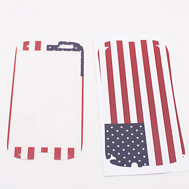 British Flag Pattern Front and Back Protector Stickers for Sumsang Galaxy 3