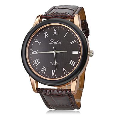 Unisex PU Analog Quartz Wrist Watch (Brown Band) Cool Watch Unique Watch