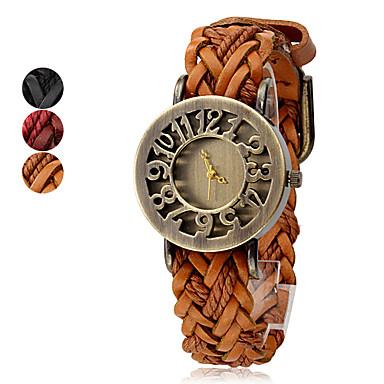 Mulheres Relógio de Moda Quartzo Couro Banda Boêmio Preta Vermelho Marrom
